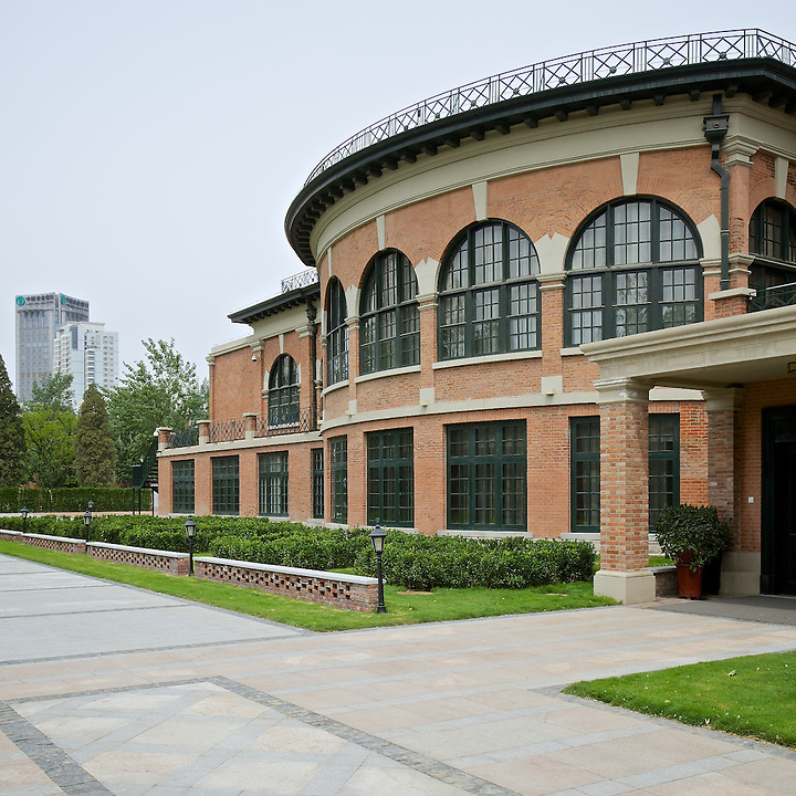 The Restored Country Club.  The Ballroom Is Behind The Upper Floor Windows And Runs The Full Width Of This Building.