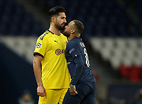 Soccer Football - Champions League - Round of 16 Second Leg - Paris St Germain v Borussia Dortmund - Parc des Princes, Paris, France - March 11, 2020  Paris St Germain's Neymar clashes with Borussia Dortmund's Emre Can         TPX IMAGES OF THE DAY<br /> Photo Pool/Panoramic/Insidefoto