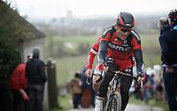 Greg Van Avermaet (BEL/BMC) on top of the Paterberg<br /> <br /> 71st Dwars door Vlaanderen (1.HC)