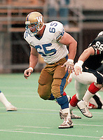 Nick Bastaja Winnipeg Blue Bombers 1983. Copyright photograph Scott Grant