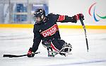 Steve Arsenault, Sochi 2014 - Para Ice Hockey // Para-hockey sur glace.<br /> Team Canada takes on Norway in Para Ice Hockey // Équipe Canada affronte Norvège en para-hockey sur glace. 09/03/2014.