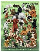GIORDANO, CUTE ANIMALS, LUSTIGE TIERE, ANIMALITOS DIVERTIDOS,dogs, paintings+++++,USGI2920M,#ac#, EVERYDAY,puzzles
