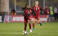 Columbus, Ohio - Thursday March 01, 2018: Taylor Smith during a 2018 SheBelieves Cup match between the women's national teams of the United States (USA) and Germany (GER) at MAPFRE Stadium.