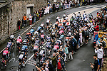 The peloton pass by during Stage 2 of the 2021 Tour de France, running 183.5km from Perros-Guirec to Mur-de-Bretagne Guerledan, France. 27th June 2021.  <br /> Picture: A.S.O./Pauline Ballet   Cyclefile<br /> <br /> All photos usage must carry mandatory copyright credit (© Cyclefile   A.S.O./Pauline Ballet)