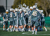 16 April 2016: The University of Vermont Catamount Men's Lacrosse team celebrate a victory as the Cats defeat the University of Maryland, Baltimore County Retrievers 14-10 at Virtue Field in Burlington, Vermont. Mandatory Credit: Ed Wolfstein Photo *** RAW (NEF) Image File Available ***