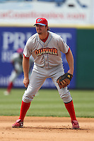 Clearwater Threshers first baseman Jim Murphy #44 during a game against the Brevard County Manatees at Space Coast Stadium on April 30, 2012 in Viera, Florida.  Clearwater defeated Brevard County 5-1.  (Mike Janes/Four Seam Images)