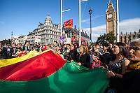 """11.10.2014 - """"Support the resistance of Kobane against ISIS attacks!"""" - Kurdish Demo in London"""