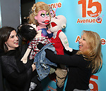"Veronica J. Kuehn with Avenue Q & Puppetry Fans during ""Avenue Q"" Celebrates World Puppetry Day at The New World Stages on 3/21/2019 in New York City."