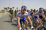 The start of Stage 3 of the 2012 Tour of Qatar running 146.5km from Dukhan Souq, Dukhan to Al Gharafa, Qatar. 7th February 2012.<br /> (Photo Eoin Clarke/Newsfile)