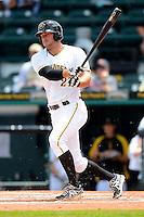 Bradenton Marauders first baseman Chris Lashmet #27 during a game against the Fort Myers Miracle at McKechnie Field on April 7, 2013 in Bradenton, Florida.  Fort Myers defeated Bradenton 9-8 in ten innings.  (Mike Janes/Four Seam Images)