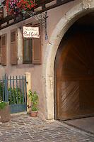 wrought iron sign paul gaschy eguisheim alsace france