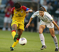 Alberta Sackey, left, Cheryl Salisbury, right, Ghana vs. Australia, 2003 WWC.