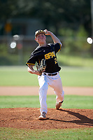 Cutter Clawson during the WWBA World Championship at the Roger Dean Complex on October 19, 2018 in Jupiter, Florida.  Cutter Clawson is a left handed pitcher from Laguna Beach, California who attends Laguna Beach High School and is committed to Brigham Young.  (Mike Janes/Four Seam Images)