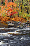 Fall colors on the West Branch of the Union River, Amherst, Maine