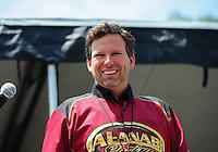 Jun. 17, 2011; Bristol, TN, USA: NHRA top fuel driver Del Worsham during qualifying for the Thunder Valley Nationals at Bristol Dragway. Mandatory Credit: Mark J. Rebilas-