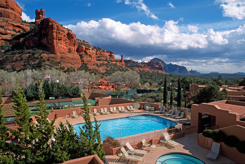 SWIMMING POOL & TENNIS COURTS at the five star ENCHANTMENT RESORT, BOYNTON CANYON - SEDONA, ARIZONA