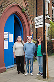 Election candidates for Queen's Park Community Council, Angie Durrance, Ryan Dalton and Emma Sweeney.