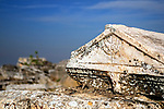 Jewish menorah on a tomb in Hierapolis, Turkey
