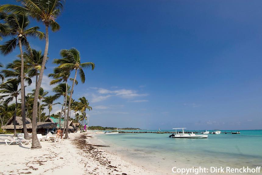 Dominikanische Republik, Strand des Punta Cana Beach Resort und Club