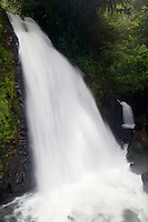 The La Paz River and the Encantada (left) and Escondida Falls along the trails at the La Paz Waterfall Gardens and Peace Lodge, Costa Rica