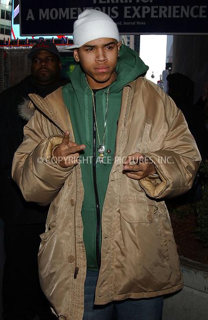WWW.ACEPIXS.COM . . . . . ....NEW YORK, FEBRUARY 21, 2006....Chris Brown arriving to the MTV TRL Awards.....Please byline: KRISTIN CALLAHAN - ACEPIXS.COM.. . . . . . ..Ace Pictures, Inc:  ..Philip Vaughan (212) 243-8787 or (646) 679 0430..e-mail: info@acepixs.com..web: http://www.acepixs.com