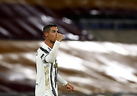 Football, Serie A: AS Roma - Juventus, Olympic stadium, Rome, September 27, 2020. <br /> Juventus' Cristiano Ronaldo celebrates after scoring his second goal in the match during the Italian Serie A football match between Roma and Juventus at Olympic stadium in Rome, on September 27, 2020. <br /> UPDATE IMAGES PRESS/Isabella Bonotto