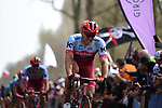 Marcel Kittel (GER) Team Katusha-Alpecin feels the pain in the Trouee d'Arenberg during the 116th edition of Paris-Roubaix 2018. 8th April 2018.<br /> Picture: ASO/Pauline Ballet | Cyclefile<br /> <br /> <br /> All photos usage must carry mandatory copyright credit (© Cyclefile | ASO/Pauline Ballet)