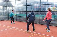 Den Bosch, The Netherlands, Februari 9, 2019,  Maaspoort , FedCup  Netherlands - Canada, Padel instruction<br /> Photo: Tennisimages/Henk Koster