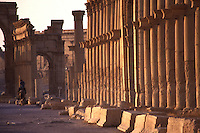 SIRIA - sito di Palmira(Tadmor) - colonnato e arco monumentale