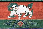 Close-up of a wall mural, Paro Valley, Bhutan