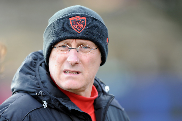 Bernard Laporte, RC Toulon Director of Rugby, during the European Rugby Champions Cup match between Bath Rugby and RC Toulon - 23/01/2016 - The Recreation Ground, Bath Mandatory Credit: Rob Munro/Stewart Communications