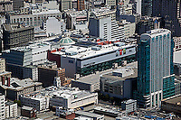 aerial photograph Intercontinental hotel SOMA San Francisco, California