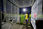 Tyler Williams of Stocksbridge leaves the field at full time. Stocksbridge Park Steels v Pickering Town,  Evo-Stik East Division, 17th November 2018. Stocksbridge Park Steels were born from the works team of the local British Steel plant that dominates the town north of Sheffield.<br />