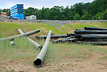 Pipes near natural gas drilling site, Lycoming County, Pennsylvania...........................................