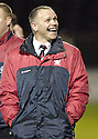 22/12/2007      Copyright Pic: James Stewart.File Name : sct_jspa24_motherwell_v_falkirk.A HAPPY FALKIRK MANAGER JOHN HUGHES AT THE END OF THE GAME AFTER THEY BEAT MOTHERWELL 3-0.James Stewart Photo Agency 19 Carronlea Drive, Falkirk. FK2 8DN      Vat Reg No. 607 6932 25.Office     : +44 (0)1324 570906     .Mobile   : +44 (0)7721 416997.Fax         : +44 (0)1324 570906.E-mail  :  jim@jspa.co.uk.If you require further information then contact Jim Stewart on any of the numbers above.........