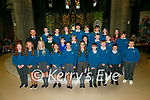Pupils from Coars NS, Filemore NS and Scoil Saidhbhin who made their Confirmation in the Daniel O'Connell Church, Cahersiveen on Wednesday, pictured here with teachers Michael O'Sullivan & Elaine Grandfield.