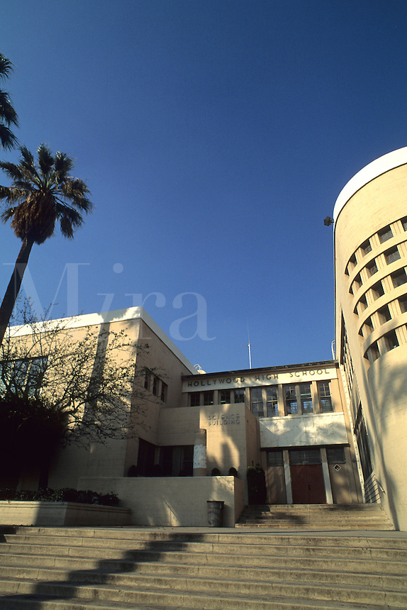 Famous Hollywood High School in Los Angeles California home of Marilyn Monroe or Norma Jean Baker real nam