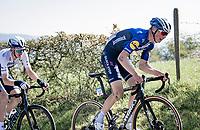 Mauri Vansevenant (BEL/Deceuninck - Quick Step) up the Côte de La Redoute<br /> <br /> 107th Liège-Bastogne-Liège 2021 (1.UWT)<br /> 1 day race from Liège to Liège (259km)<br /> <br /> ©kramon