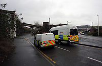 Pictured: The police scene at the Strand in Swansea, south Wales. Sunday 12 March 2017<br />