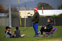 Fans watch the Horowhenua-Kapiti premier club rugby union match between Toa and Waikanae at Te Atiawa Park, Paraparaumu Beach, New Zealand on Saturday, 18 June 2016. Photo: Dave Lintott / lintottphoto.co.nz