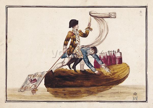 Spain (1813). Peninsular War. Expulsion of Joseph Bonaparte. Engraving. SPAIN. Madrid. National Library.