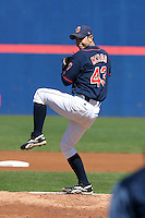September 5, 2005:  Pitcher Timothy (Tim) McNab of the Binghamton Mets during a game at Jerry Uht Park in Erie, PA.  Binghamton is the Eastern League Double-A affiliate of the New York Mets.  Photo by:  Mike Janes/Four Seam Images