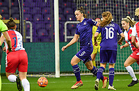 Anderlecht midfielder Tine De Caigny (6) pictured during a female soccer game between RSC Anderlecht Dames and Northern Irish Linfield Ladies  in the first qualifying round for the Uefa Womens Champions League of the 2020 - 2021 season , Wednesday 4 th of November 2020  in ANDERLECHT , Belgium . PHOTO SPORTPIX.BE | SPP | DAVID CATRY