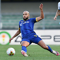 Sofyan Amrabat of Hellas Verona in action during the Serie A football match between Hellas Verona and SS Lazio at stadio Marcantonio Bentegodi in Verona (Italy), July 26th, 2020. Play resumes behind closed doors following the outbreak of the coronavirus disease. <br /> Photo Daniele Buffa / Image Sport / Insidefoto