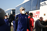 WIENER NEUSTADT, AUSTRIA - MARCH 25: John Brooks #6 of the United States before a game between Jamaica and USMNT at Stadion Wiener Neustadt on March 25, 2021 in Wiener Neustadt, Austria.