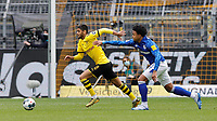 16th May 2020, Signal Iduna Park, Dortmund, Germany; Bundesliga football, Borussia Dortmund versus FC Schalke;  DAHOUD, BVB breaks clear against McKENNIE of FC Schalke