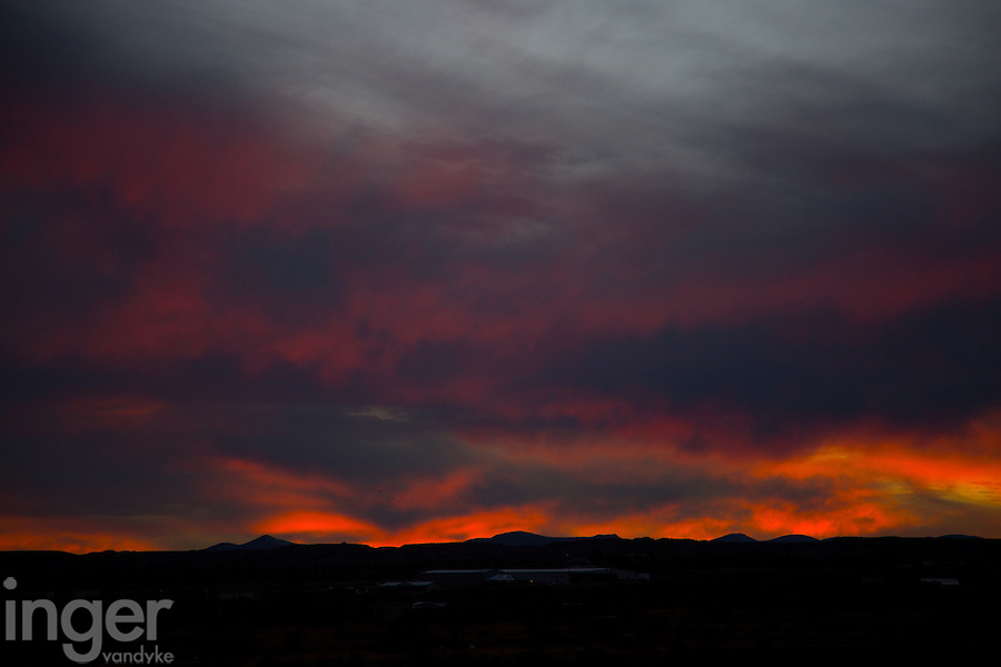 Sunset in New Mexico, United States