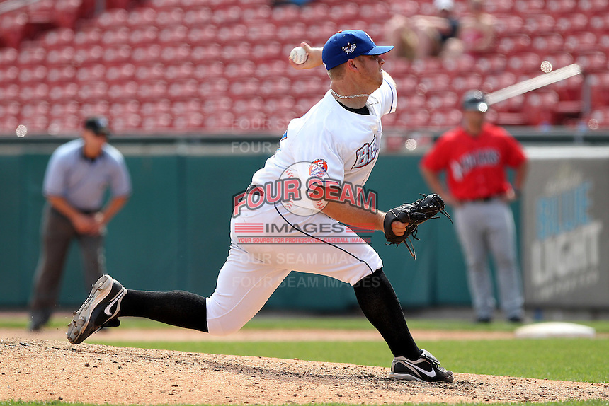 Buffalo Bisons pitcher Josh Edgin #59 during a game against the Indianapolis Indians at Coca-Cola Field on May 22, 2012 in Buffalo, New York.  Indianapolis defeated Buffalo 6-3.  (Mike Janes/Four Seam Images)