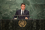 Italy<br /> H.E. Mr. Matteo Renzi<br /> President of the Council of Ministers<br /> <br /> General Assembly Seventy-first session: Opening of the General Debate 71 United Nations, New York