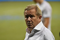 KANSAS CITY, KS - SEPTEMBER 13: Minnesota United FC head coach Adrian Heath walks off field after his team's loss during a game between Minnesota United FC and Sporting Kansas City at Children's Mercy Park on September 13, 2020 in Kansas City, Kansas.